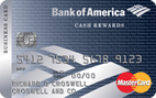 Bank of America® Cash Rewards for Business MasterCard® credit card - Credit Card
