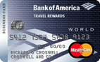 Bank of America� Travel Rewards World MasterCard� for Business credit card - Credit Card