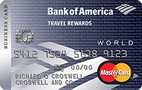 Bank of America® Travel Rewards World MasterCard® for Business credit card - Credit Card