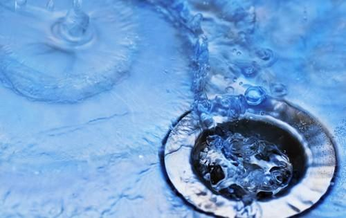 water-down-drain